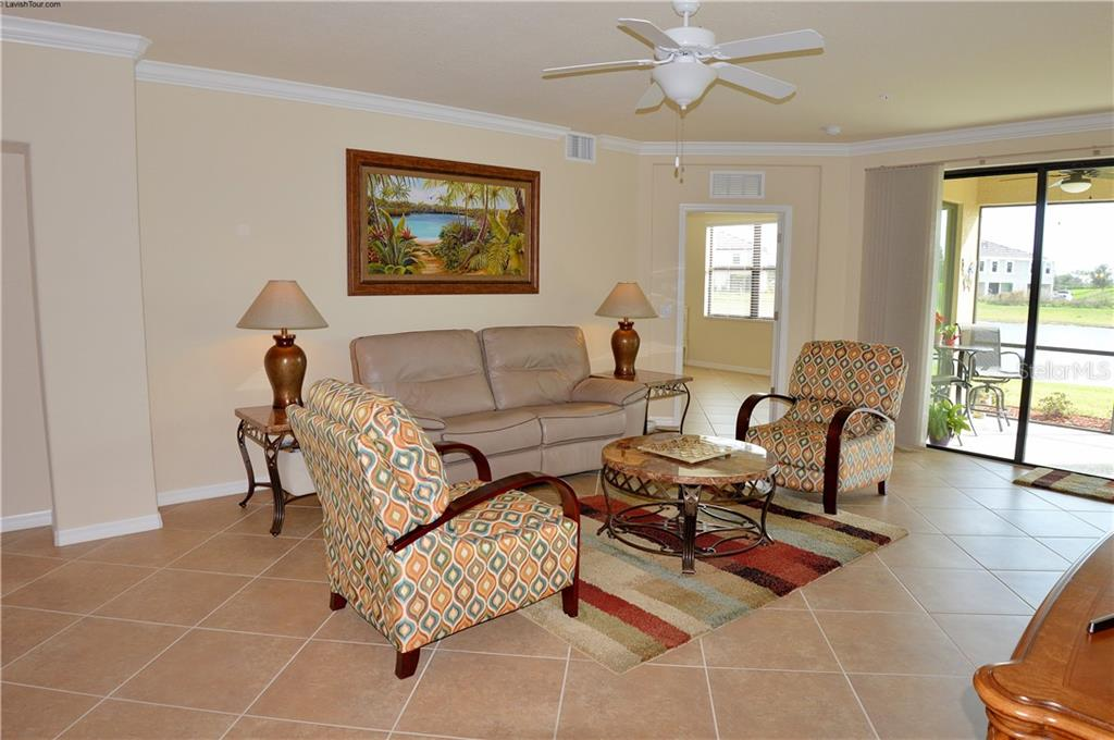 Living room - Condo for sale at 20140 Ragazza Cir #102, Venice, FL 34293 - MLS Number is N6103394