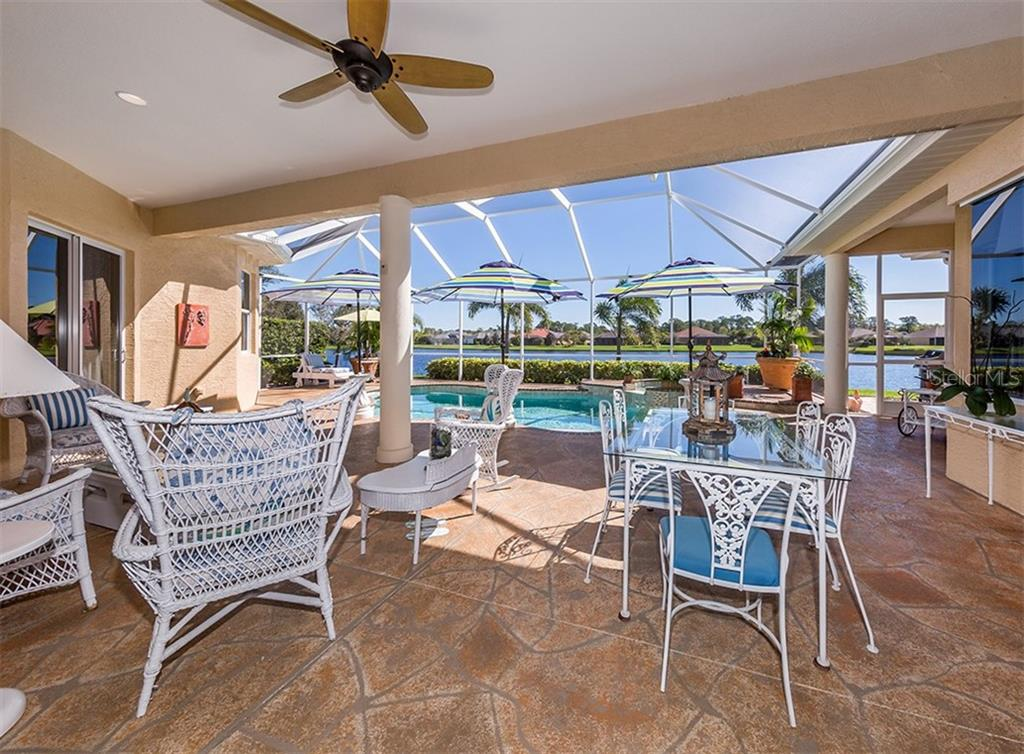 Covered lanai - Single Family Home for sale at 19799 Cobblestone Cir, Venice, FL 34292 - MLS Number is N6104694