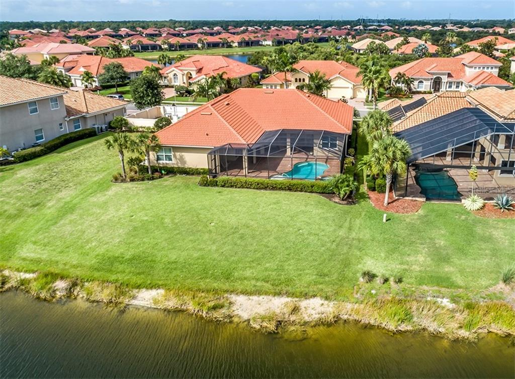 Aerial of rear exterior - Single Family Home for sale at 189 Portofino Dr, North Venice, FL 34275 - MLS Number is N6106071