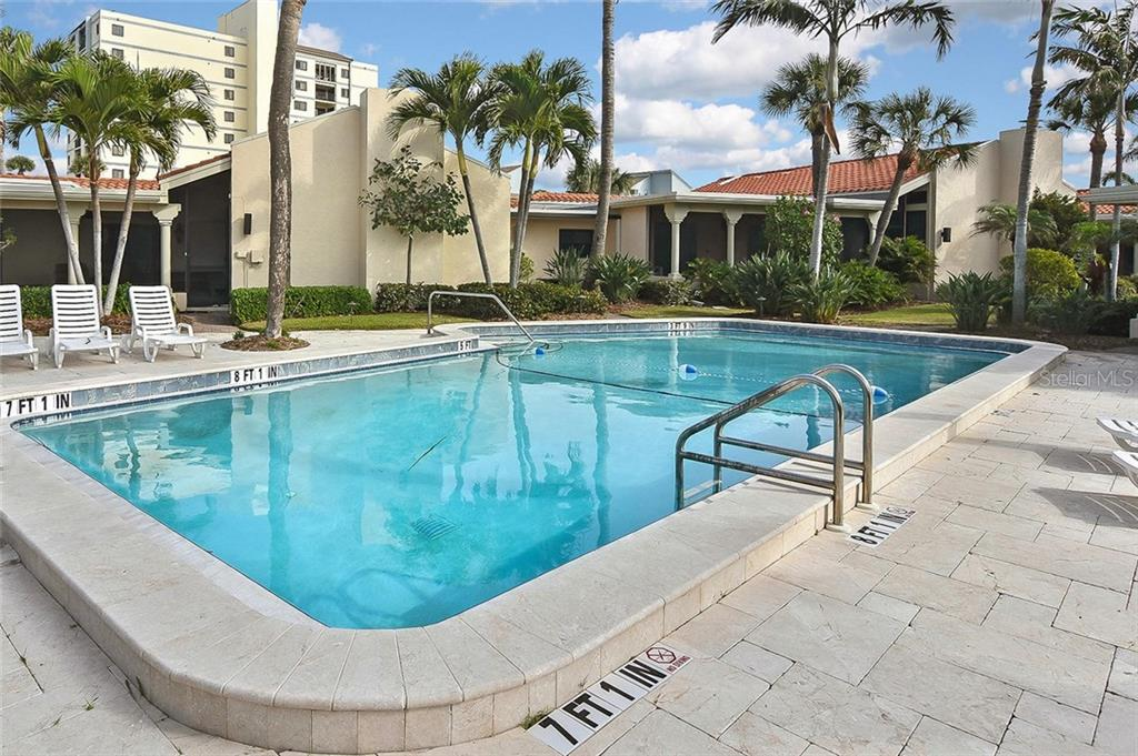 Community pool - Condo for sale at 718 Golden Beach Blvd #3, Venice, FL 34285 - MLS Number is N6107011