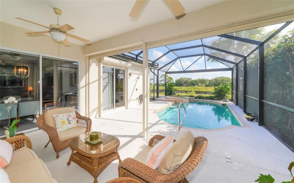 Lanai to pool - Single Family Home for sale at 226 Rio Terra, Venice, FL 34285 - MLS Number is N6107320