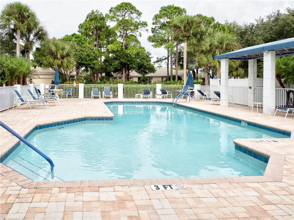 Heated Community Pool - Condo for sale at 815 Montrose Dr #101, Venice, FL 34293 - MLS Number is N6107969