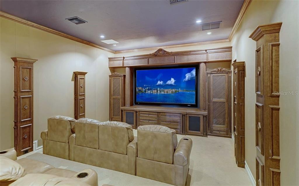 Theater room - Single Family Home for sale at 8257 Archers Ct, Sarasota, FL 34240 - MLS Number is N6109007