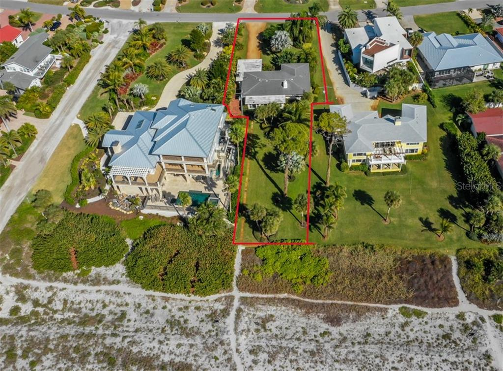 Aerial - Single Family Home for sale at 717 Valencia Rd, Venice, FL 34285 - MLS Number is N6109082