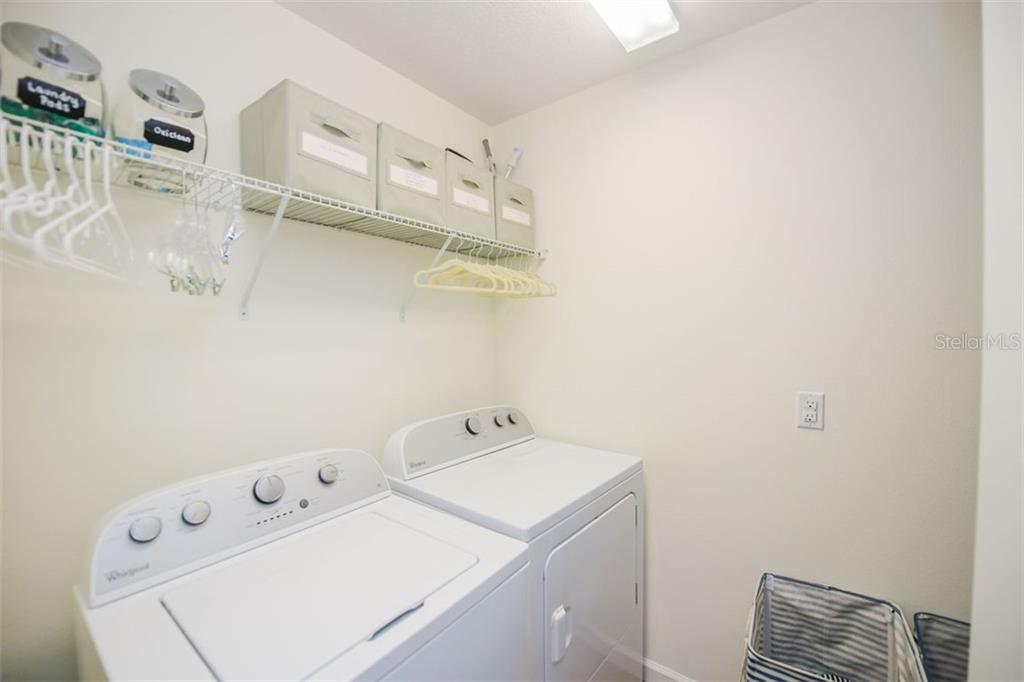 Laundry room located on second level. - Townhouse for sale at 12236 Trailhead Dr, Bradenton, FL 34211 - MLS Number is N6111119