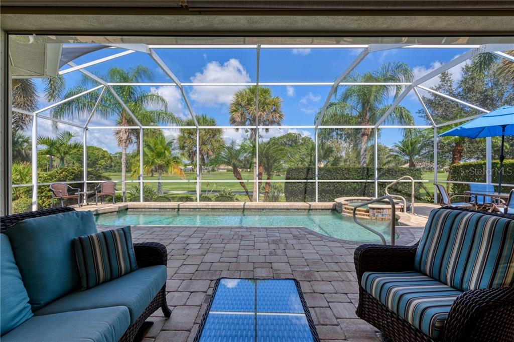 View from lanai - Single Family Home for sale at 953 Chickadee Dr, Venice, FL 34285 - MLS Number is N6111180
