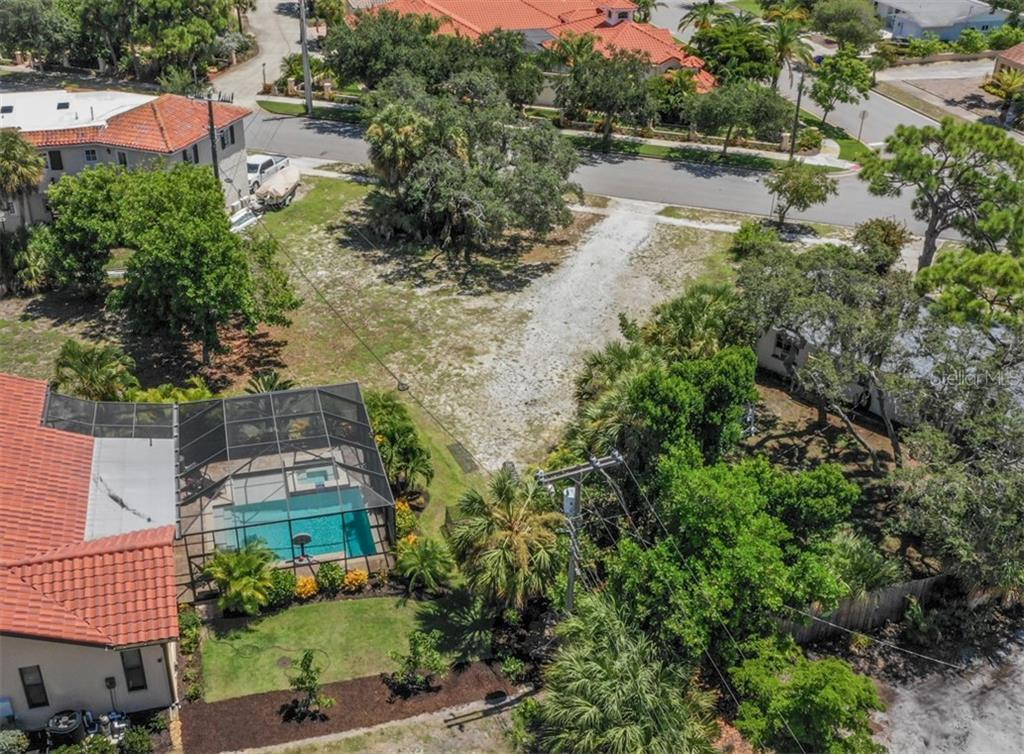 Aerial to Nassau St S - Vacant Land for sale at 230 Nassau St S, Venice, FL 34285 - MLS Number is N6111555