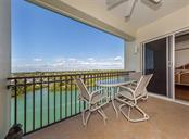 Lanai with view of the Intracoastal Waterway. Lanai has sliders to the master bedroom. - Condo for sale at 147 Tampa Ave E #902, Venice, FL 34285 - MLS Number is N6104823