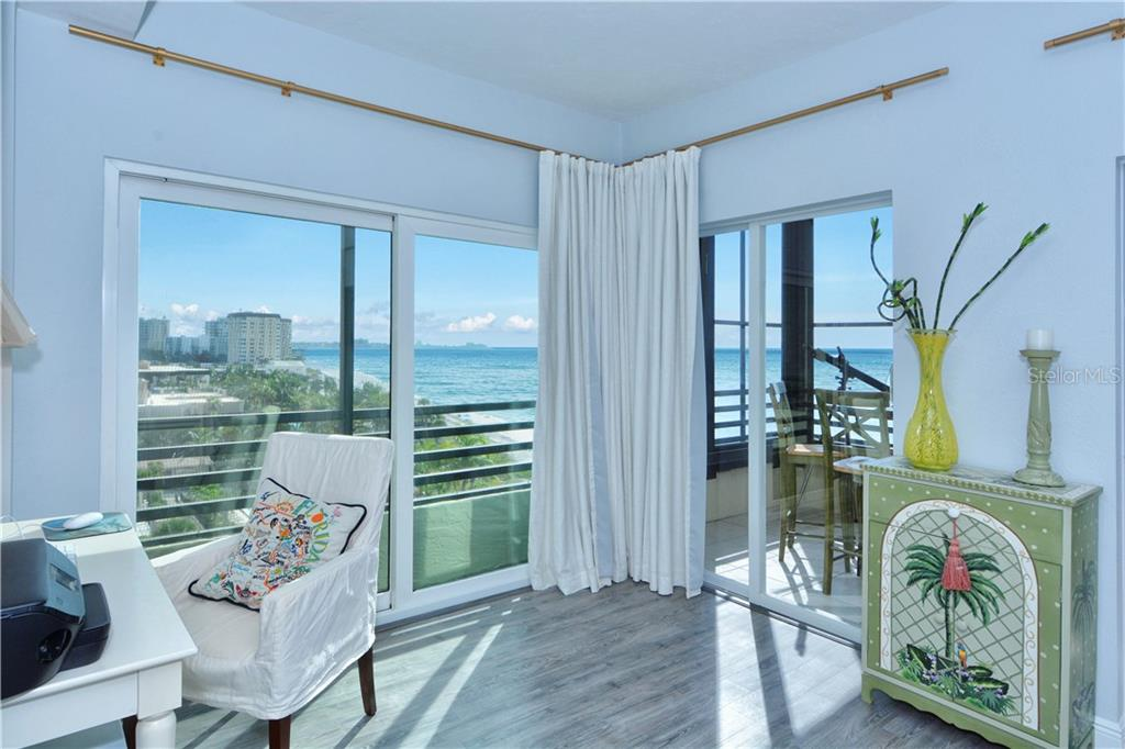Private Master bedroom suite with an area for your desk. 3 sliding glass doors in the master bedroom - Condo for sale at 1100 Benjamin Franklin Dr #804, Sarasota, FL 34236 - MLS Number is A4172174