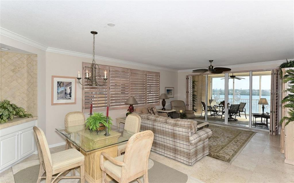 Dining area - Condo for sale at 1260 Dolphin Bay Way #401, Sarasota, FL 34242 - MLS Number is A4173008
