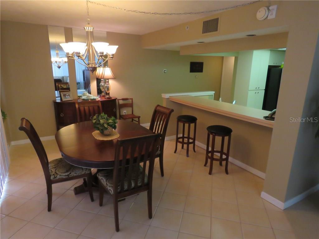 Dining Room And Kitchen Breakfast Bar Counter From Edge Of The Living