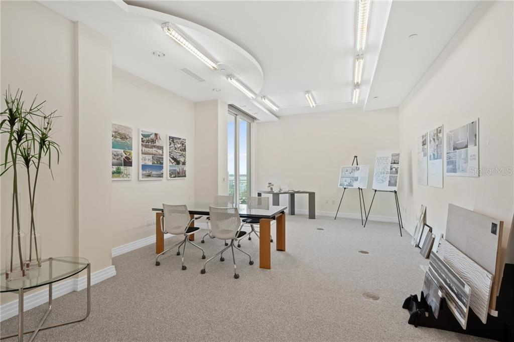 Unique design center offered to buyers to reimagine the apartment with samples and drawings provided by professional Interior Designer. - Condo for sale at 990 Blvd Of The Arts #1800, Sarasota, FL 34236 - MLS Number is A4405592