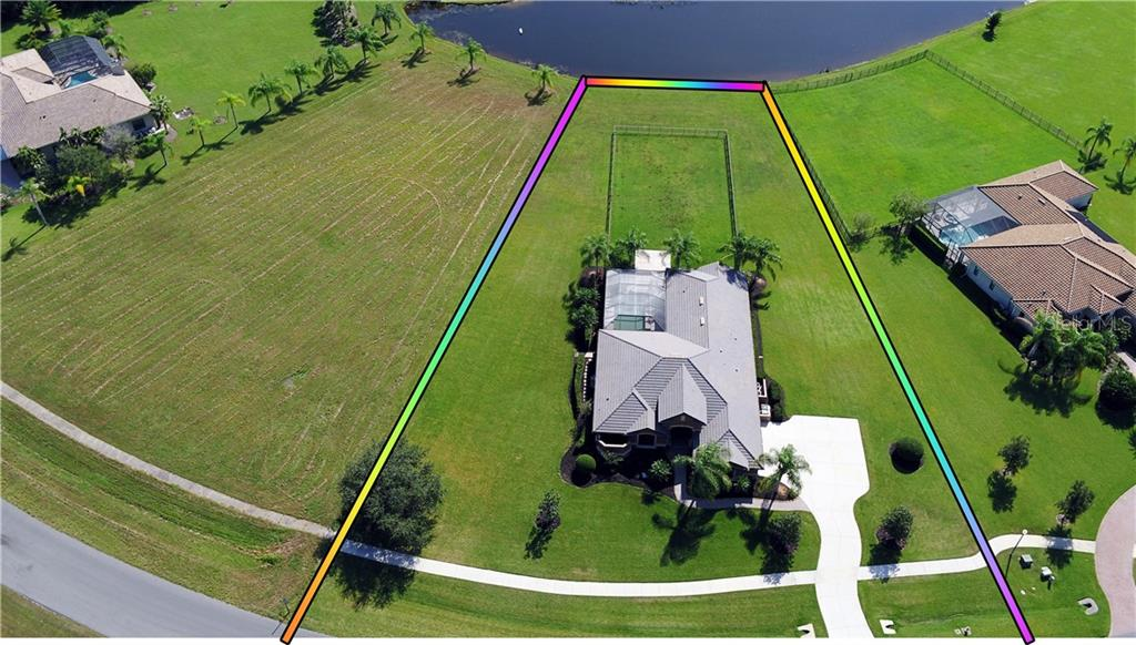 Showing the property line - Single Family Home for sale at 3710 Twin Rivers Trl, Parrish, FL 34219 - MLS Number is A4417184