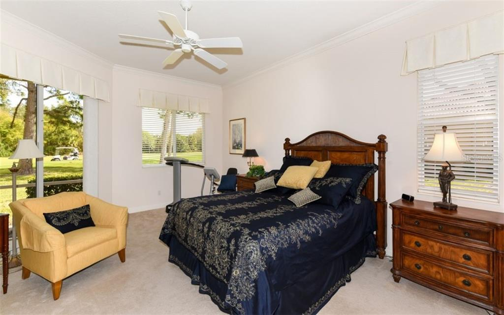 Large master bedroom with golf course view! - Single Family Home for sale at 8473 Eagle Preserve Way, Sarasota, FL 34241 - MLS Number is A4425945