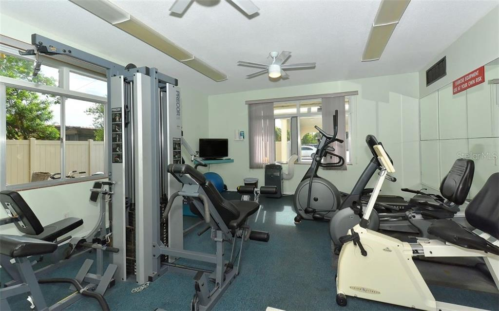 Fitness Room. - Condo for sale at 797 Beach Rd #215, Sarasota, FL 34242 - MLS Number is A4430524