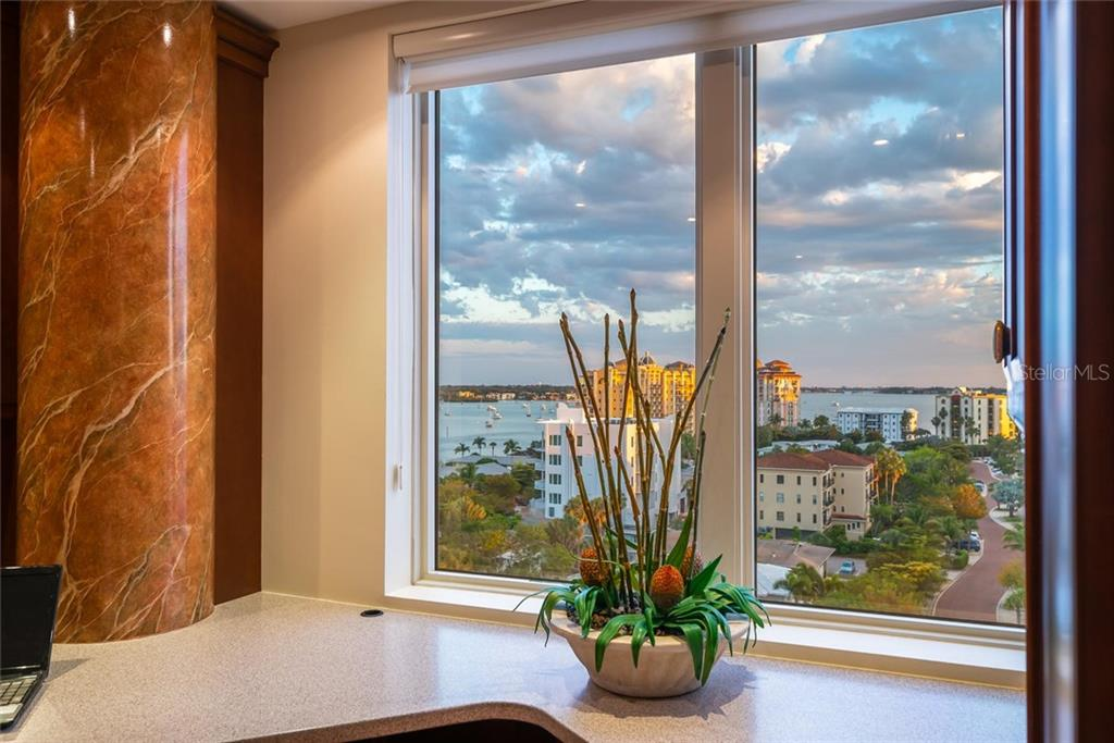 The view from your office >> Golden Gate Point, the Marina and Gulf of Mexico!! - Condo for sale at 128 Golden Gate Pt #902a, Sarasota, FL 34236 - MLS Number is A4433296