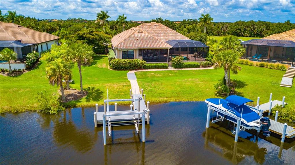 Back Yard Arial View - Single Family Home for sale at 11728 Rive Isle Run, Parrish, FL 34219 - MLS Number is A4439074