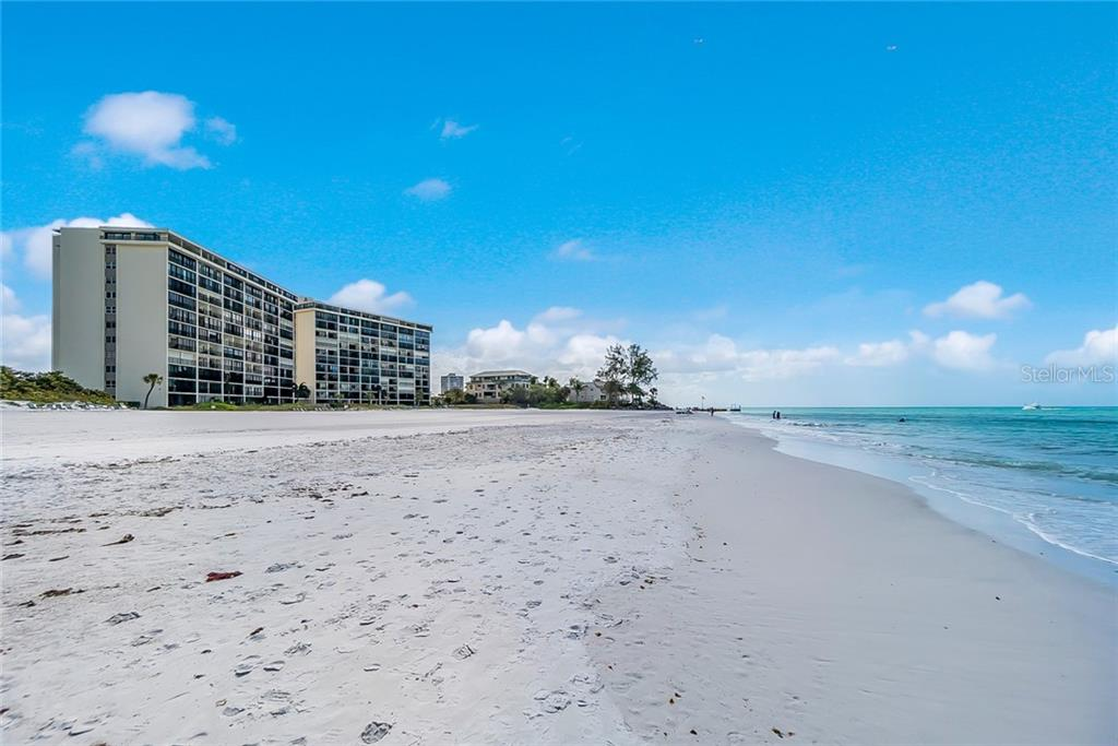 Crystal white sandy beach on the Gulf of Mexico - Condo for sale at 20 Whispering Sands Dr #102 & 103, Sarasota, FL 34242 - MLS Number is A4441587