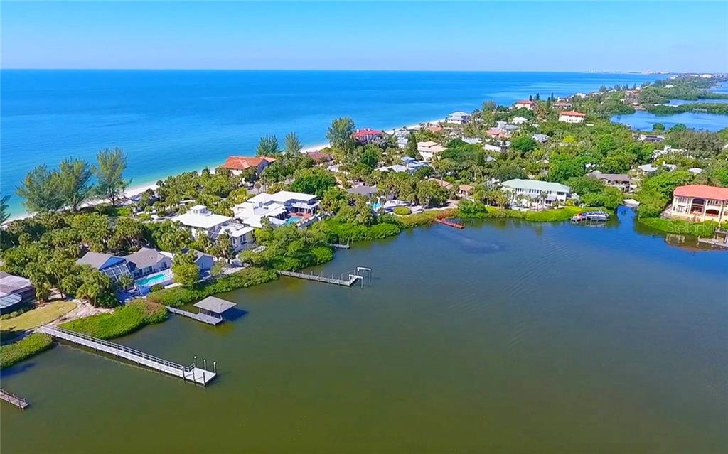 Bay-side view towards home and Gulf. - Single Family Home for sale at 3509 Casey Key Rd, Nokomis, FL 34275 - MLS Number is N5915098